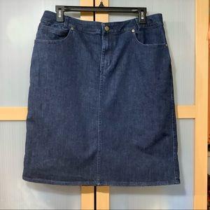 Coldwater Creek Classic Jean Skirt 💙
